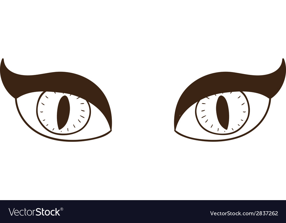 Scary witch or vampire eyes vector | Price: 1 Credit (USD $1)