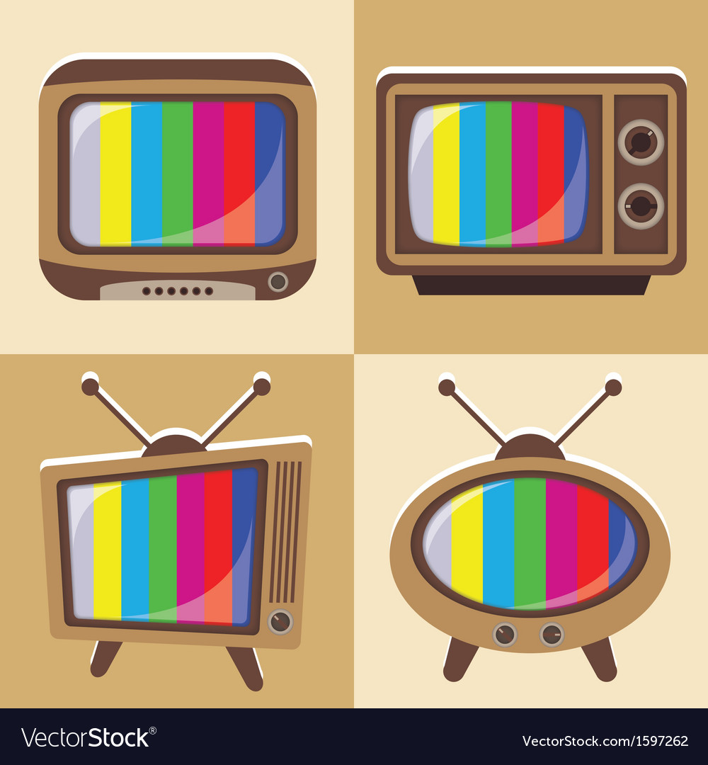 Set of classic television vector | Price: 1 Credit (USD $1)