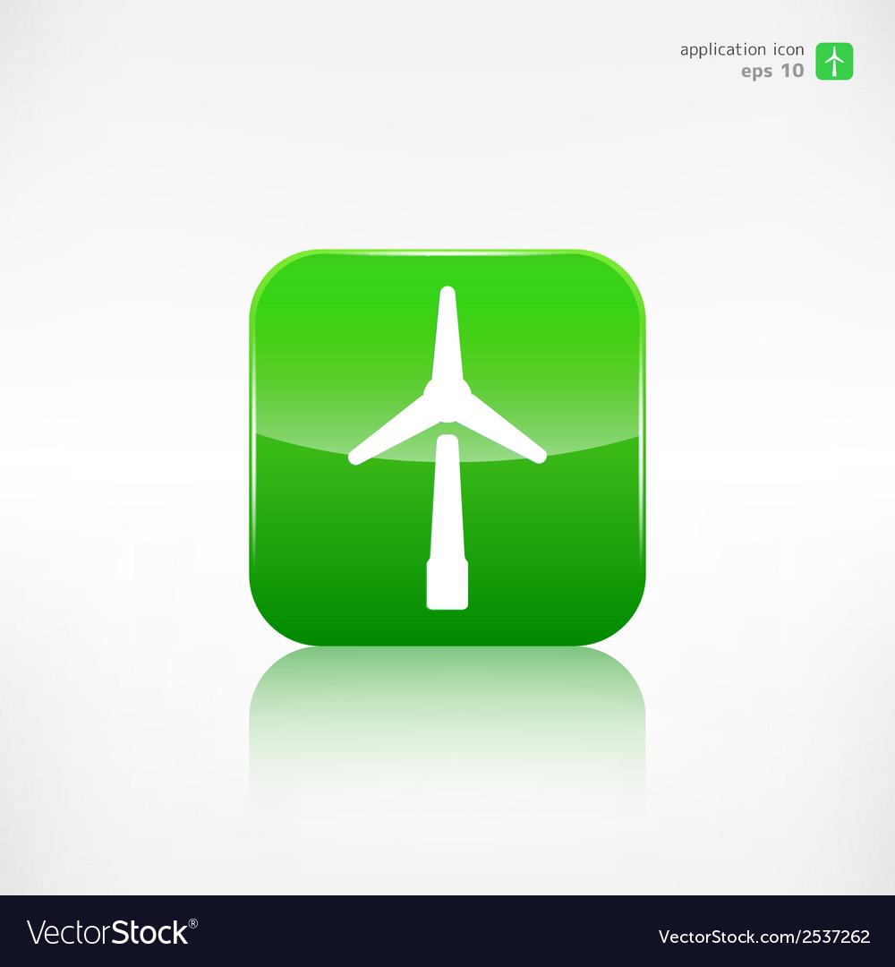 Wind turbine icon eco concept vector | Price: 1 Credit (USD $1)