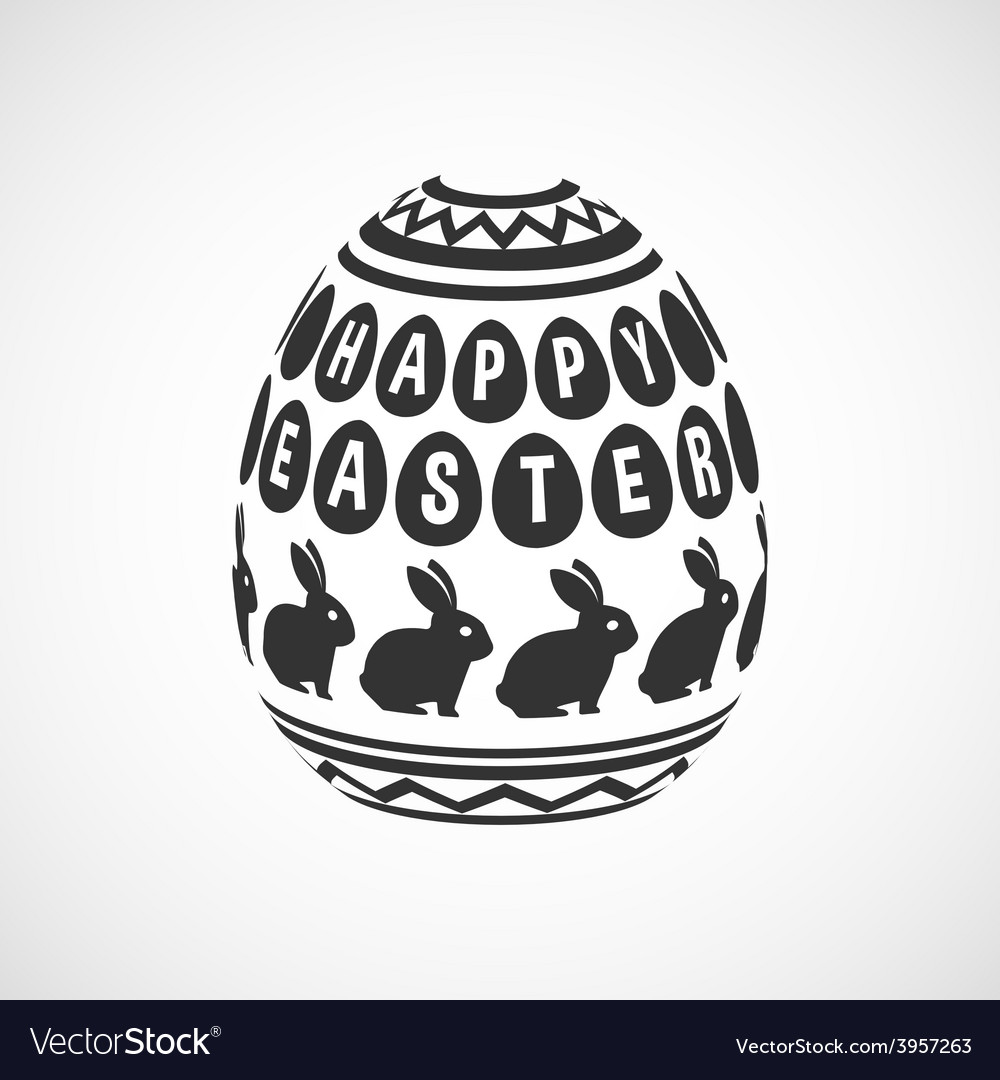 Black and white decorative egg vector | Price: 1 Credit (USD $1)