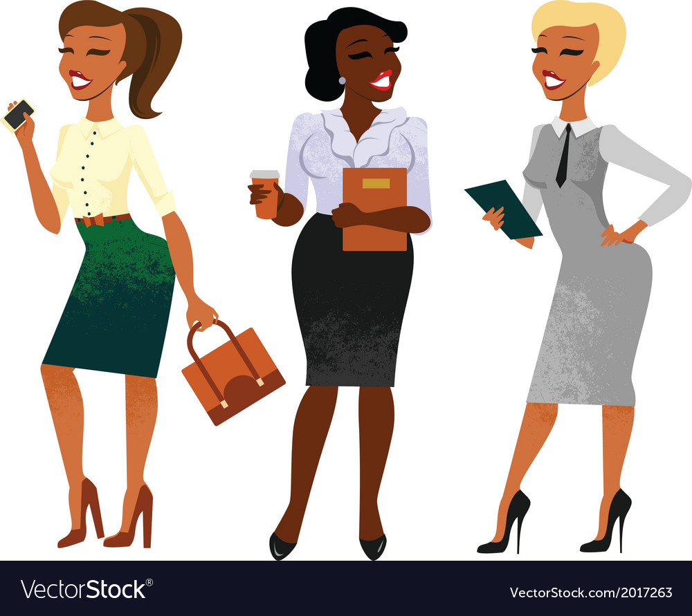 Businesswomen vector | Price: 1 Credit (USD $1)