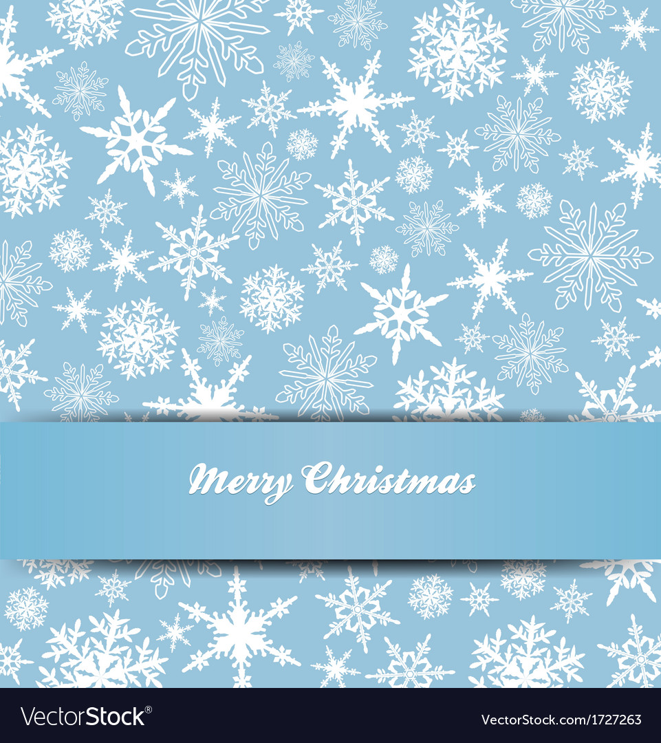Christmas snowflake card banner invitation vector | Price: 1 Credit (USD $1)