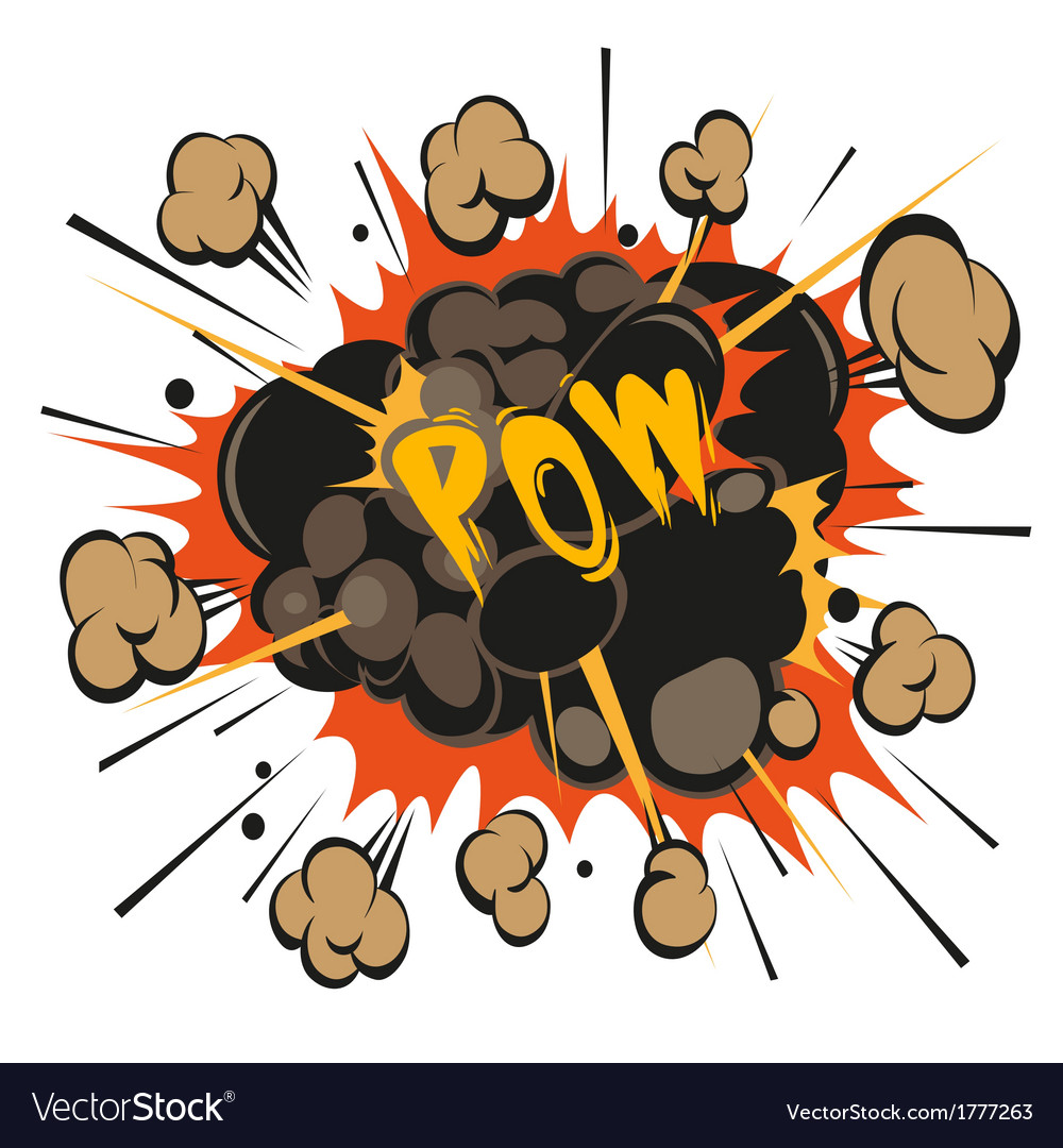 Comic book explosion elements vector | Price: 1 Credit (USD $1)