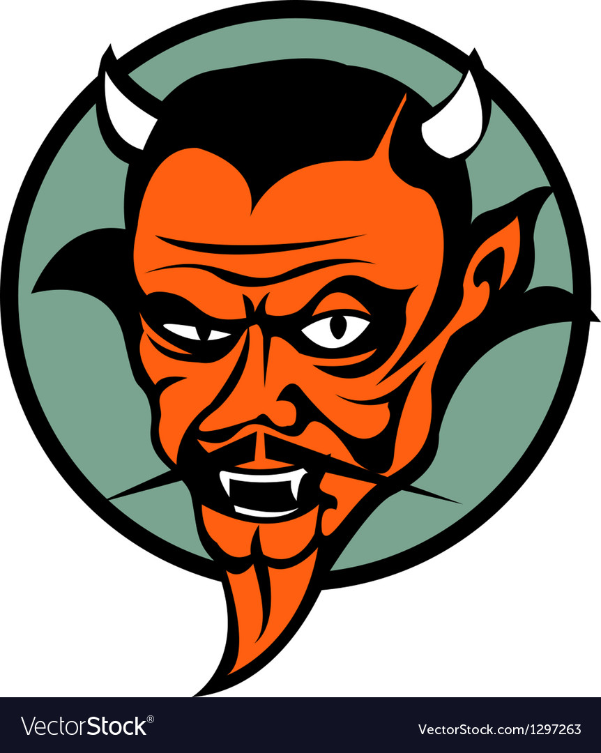 Face of the devil vector | Price: 1 Credit (USD $1)