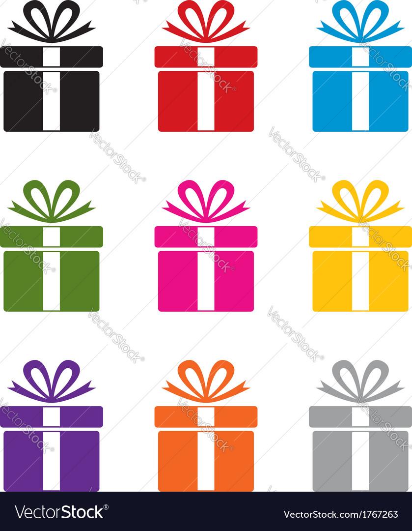 Gift box symbols vector   Price: 1 Credit (USD $1)