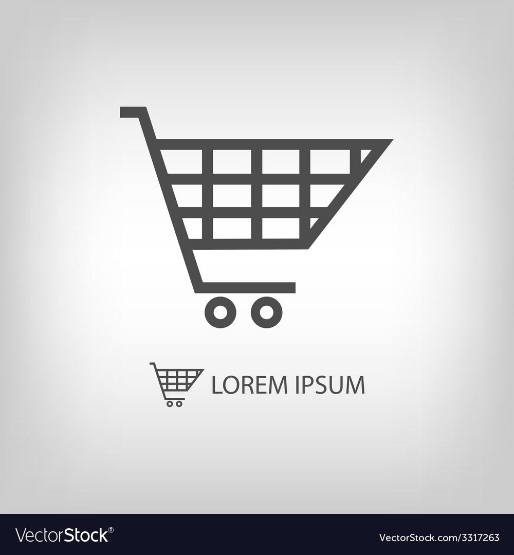 Grey shopping cart vector | Price: 1 Credit (USD $1)