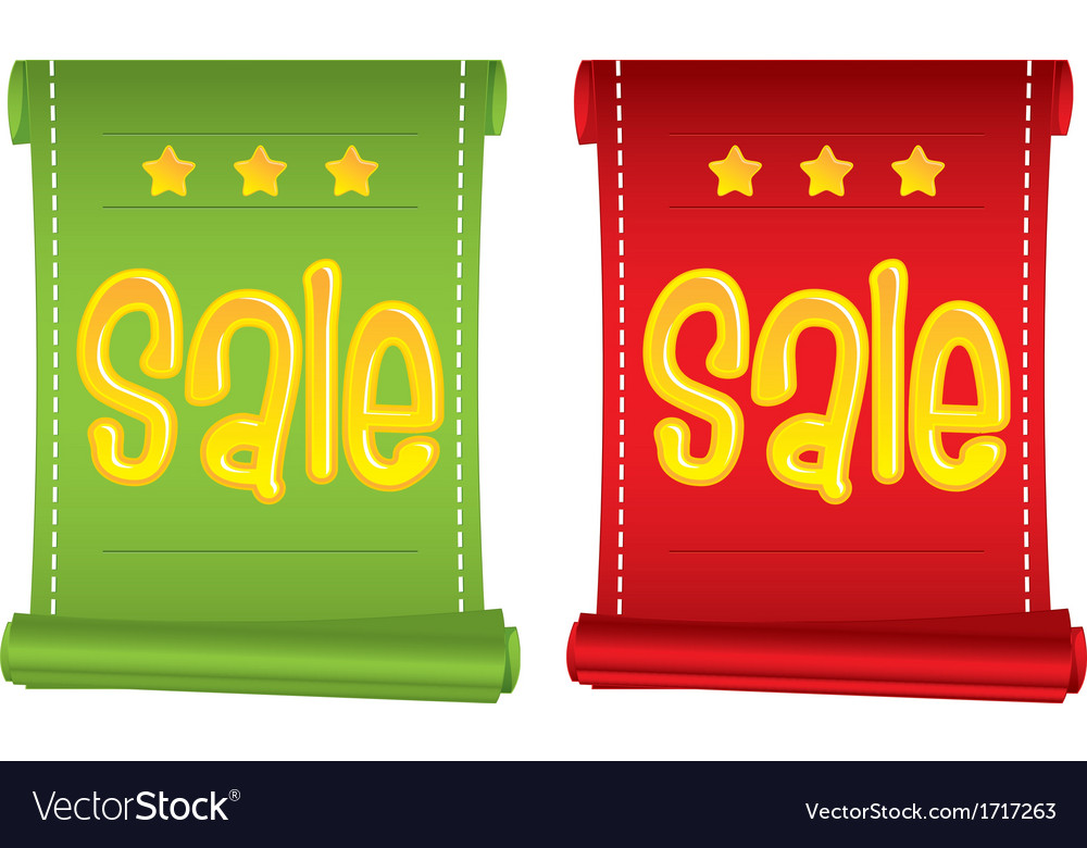 Set of two business promotion banners with sale te vector | Price: 1 Credit (USD $1)