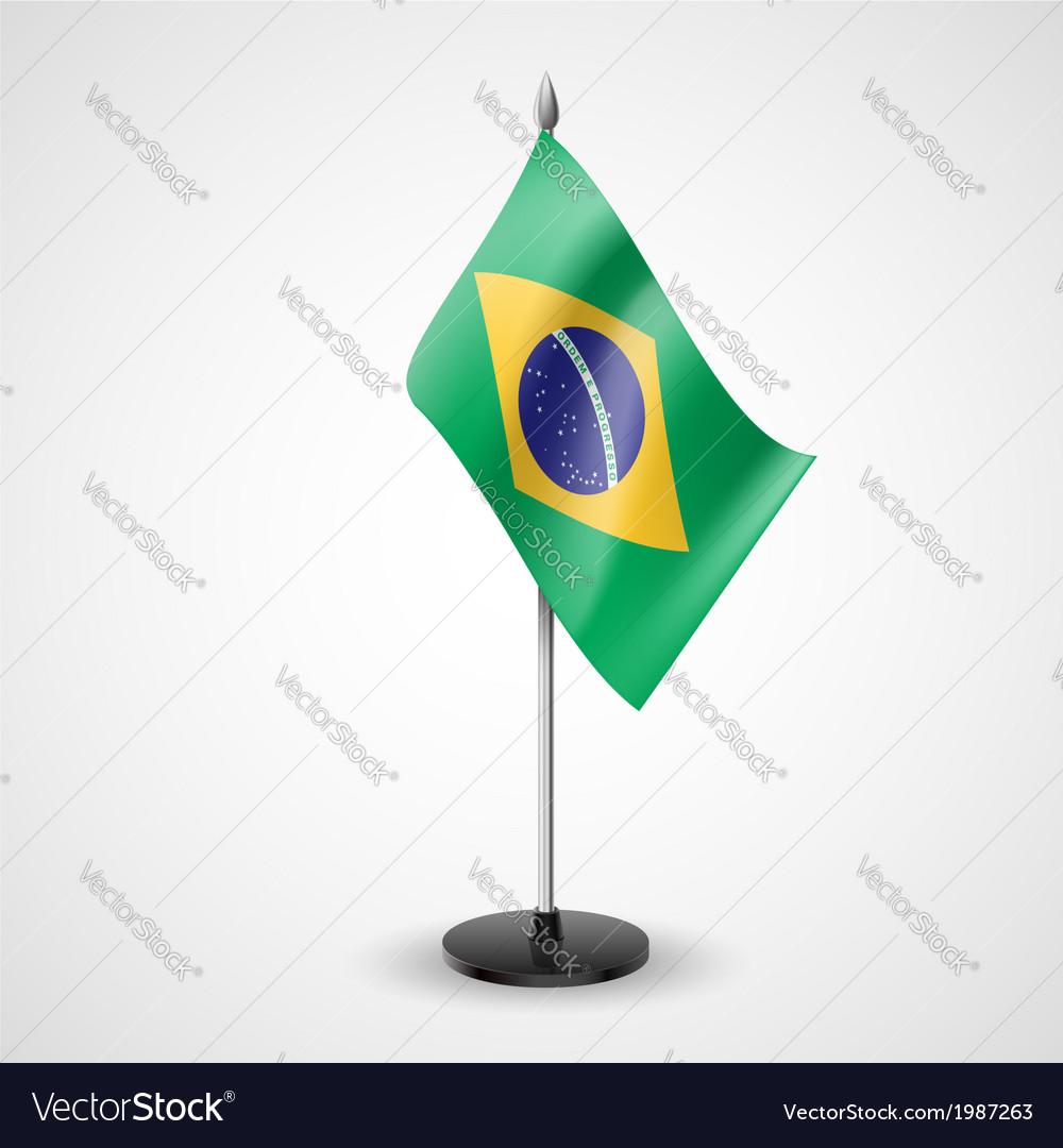 Table flag of brazil vector   Price: 1 Credit (USD $1)