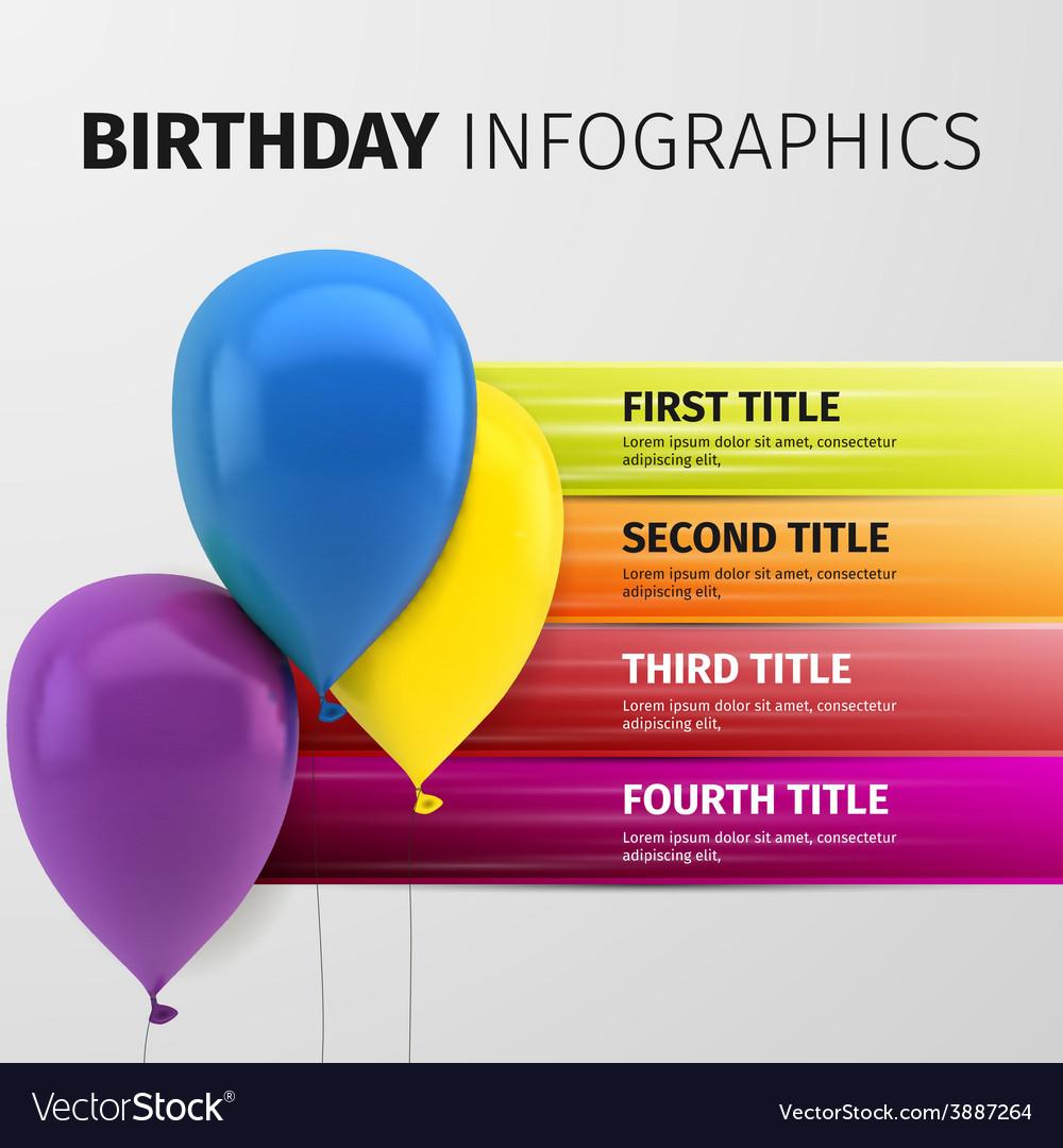 Birthday infographics vector | Price: 1 Credit (USD $1)
