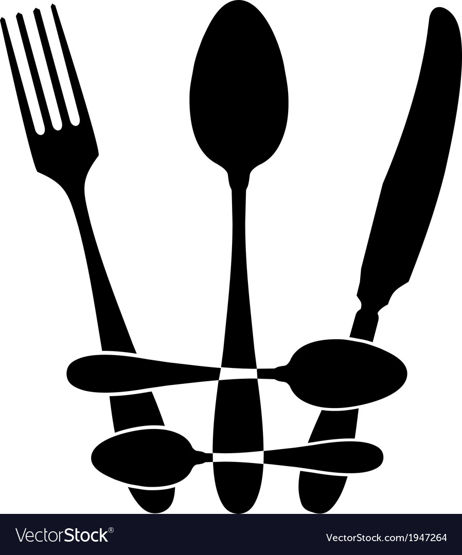 Cutlery - crown vector | Price: 1 Credit (USD $1)