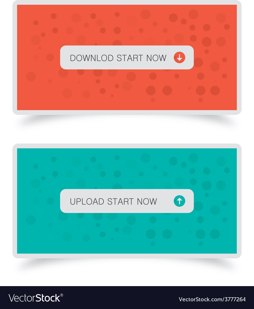 Download upload buttons with banners vector | Price: 1 Credit (USD $1)