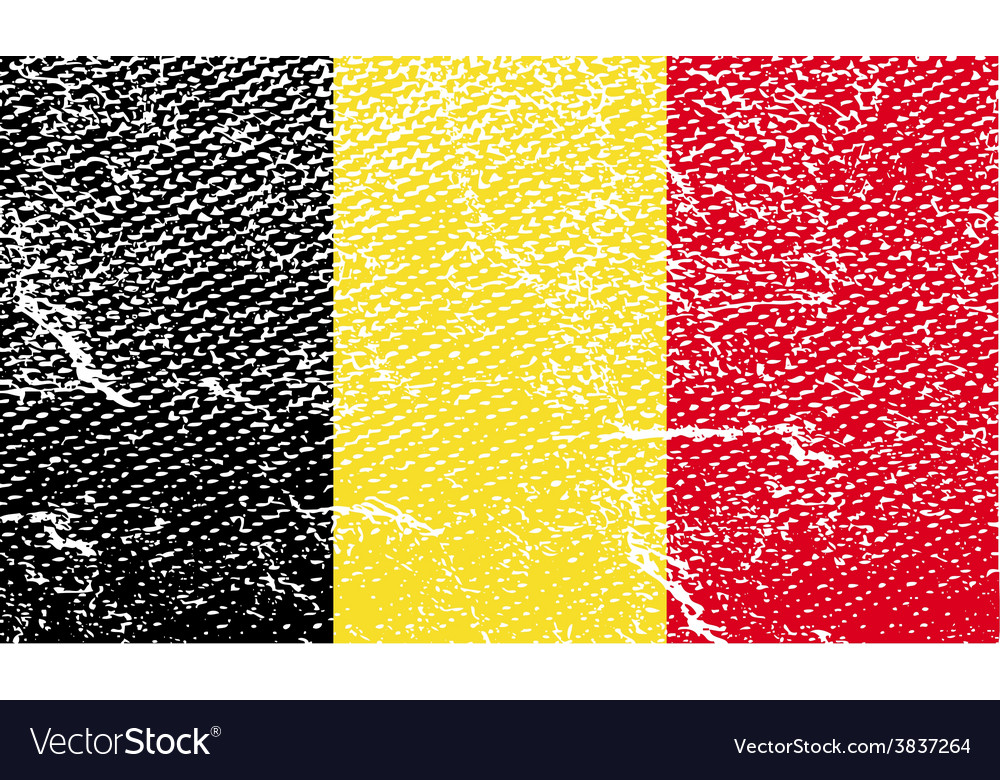 Flag of belgium with old texture vector | Price: 1 Credit (USD $1)