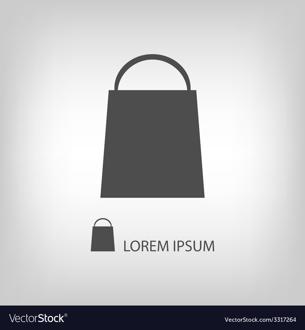 Grey shopping bag vector | Price: 1 Credit (USD $1)