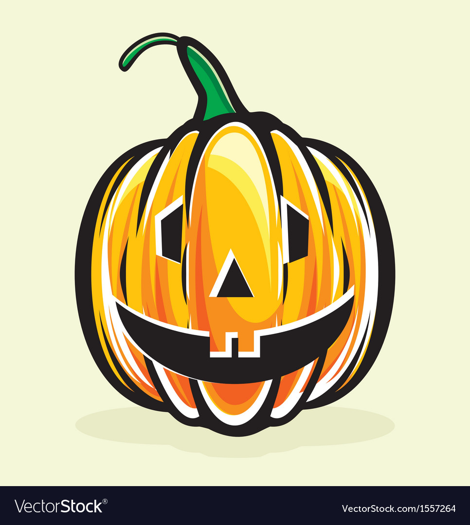 Holiday pumpkin jack lantern vector | Price: 1 Credit (USD $1)