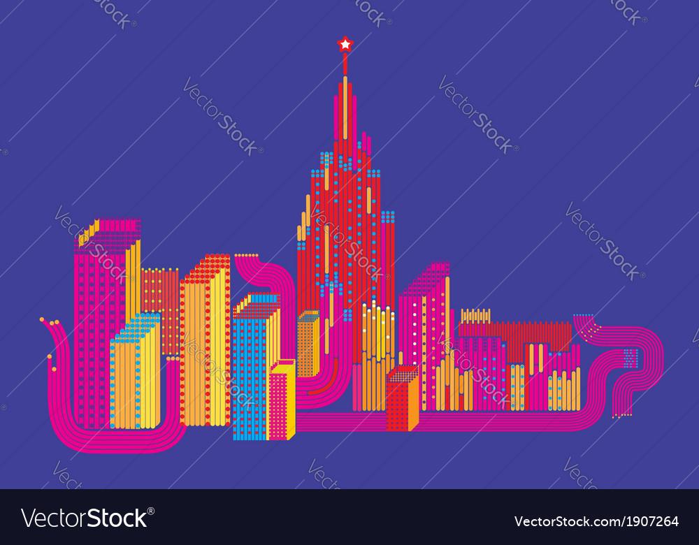 Mega-city vector | Price: 1 Credit (USD $1)