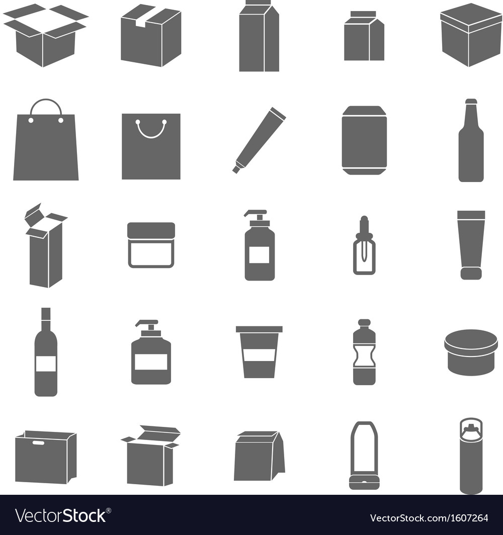 Packaging icons on white background vector | Price: 1 Credit (USD $1)