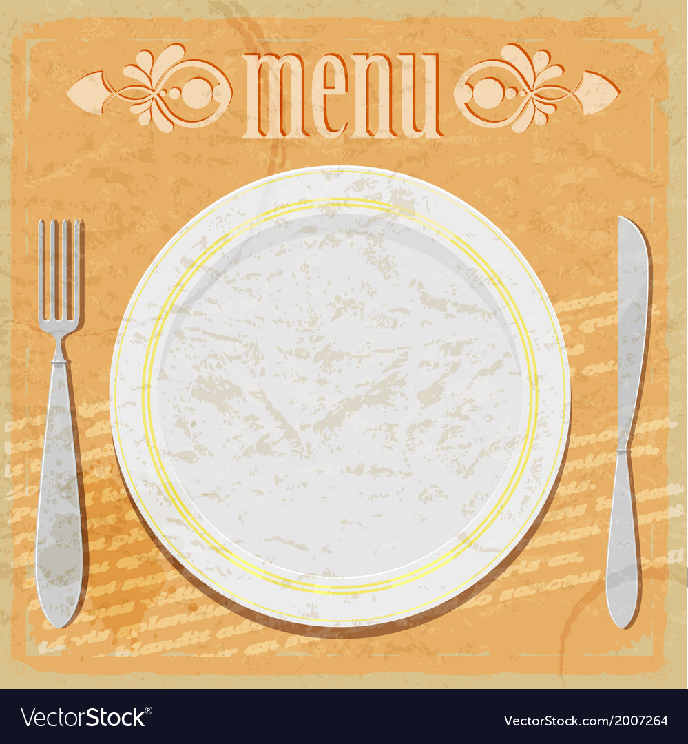 Vintage card - the restaurant menu vector | Price: 1 Credit (USD $1)