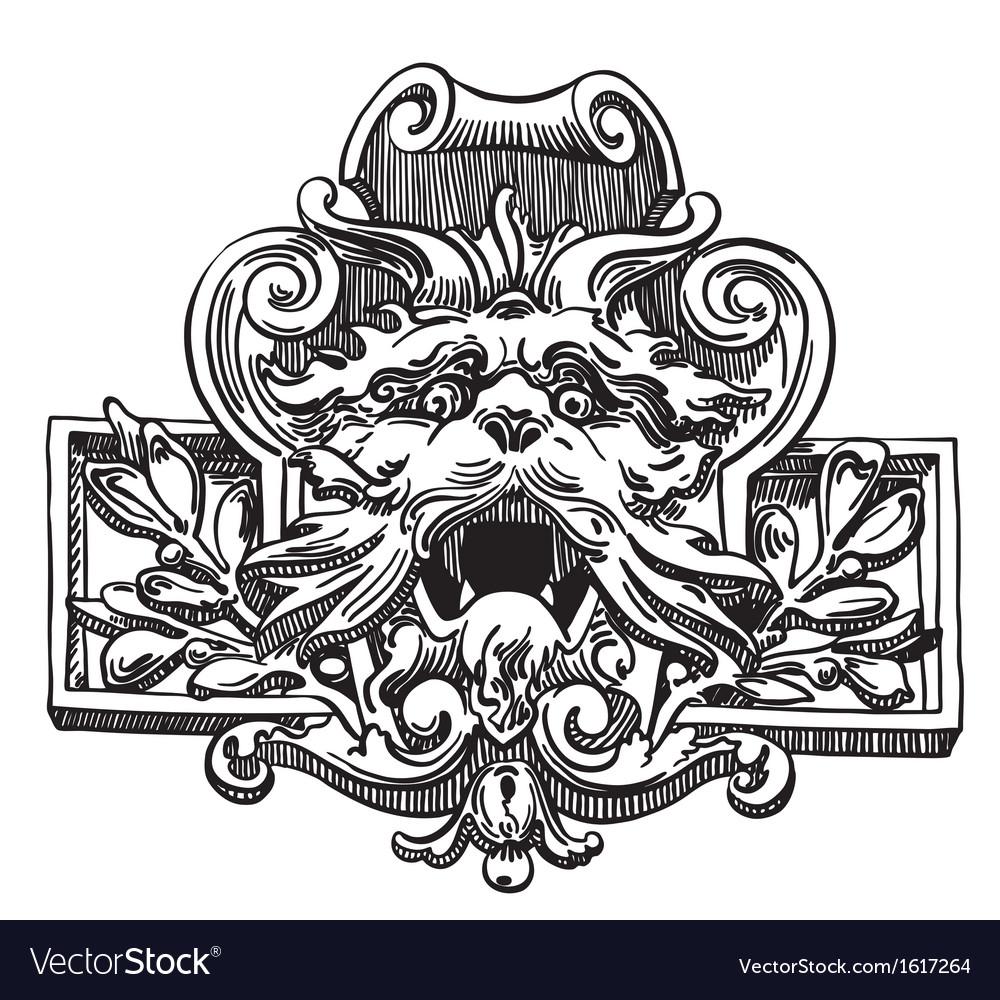 Vintage sketch design element vector | Price: 1 Credit (USD $1)