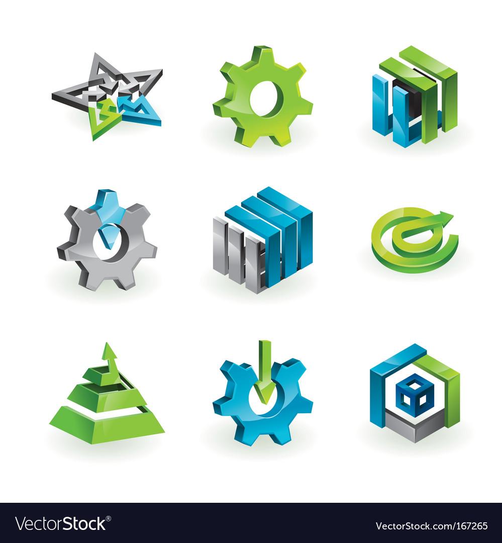 3d design elements and graphics vector