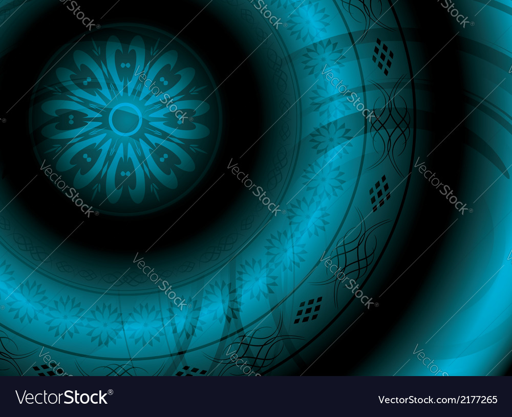 Abstract background with round ornament vector | Price: 1 Credit (USD $1)