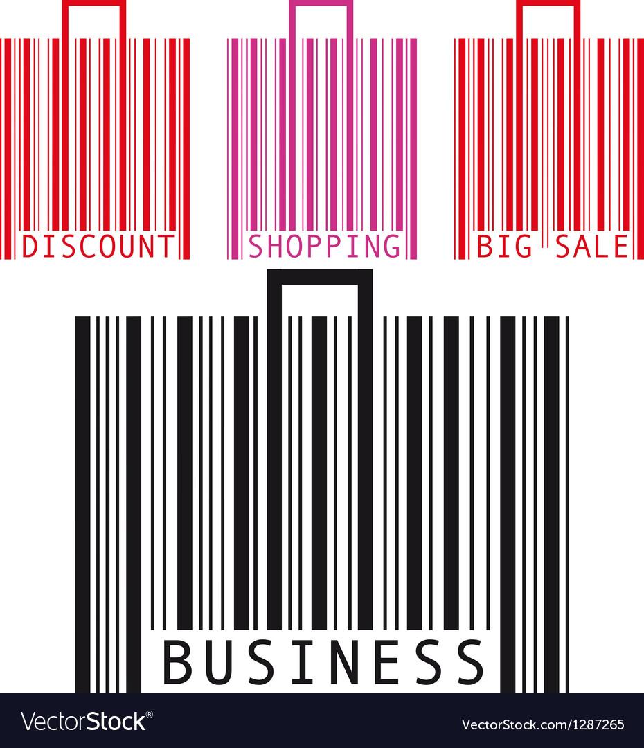 Bar code bags vector | Price: 1 Credit (USD $1)