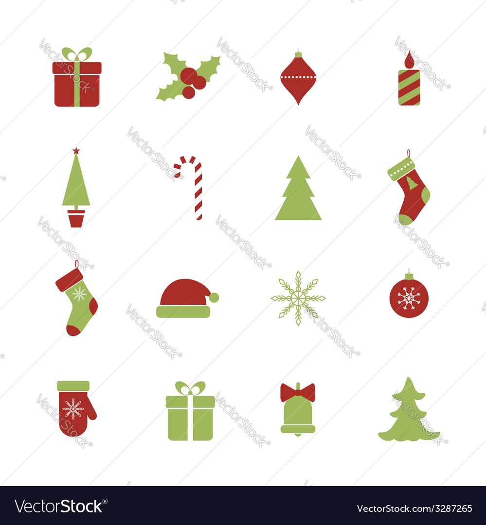 Christmas icons set vector | Price: 1 Credit (USD $1)