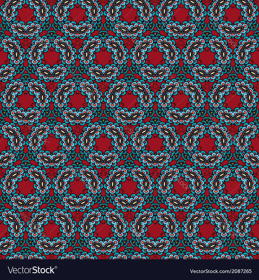 Decorative ornamental seamless pattern vector | Price: 1 Credit (USD $1)