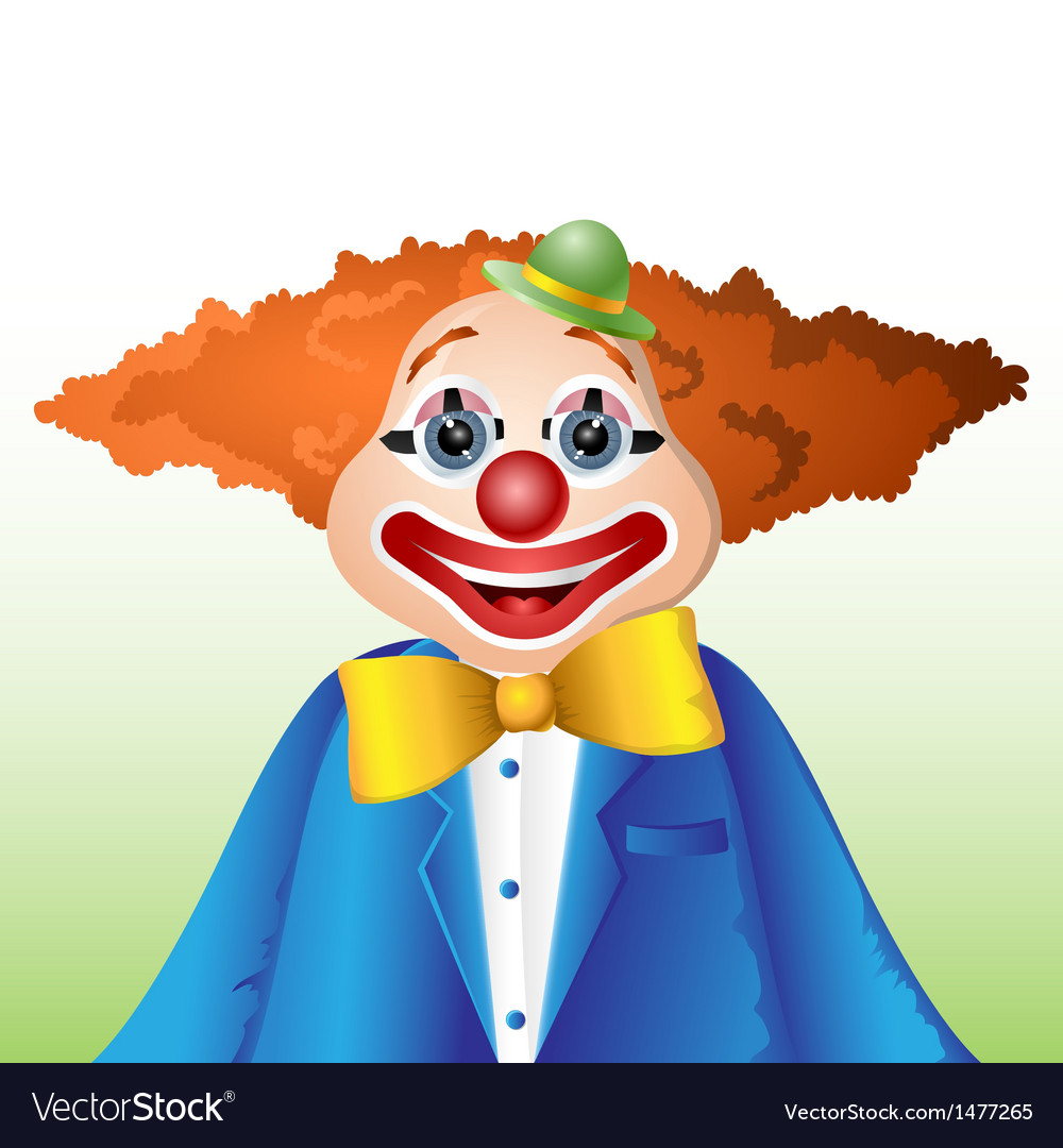 Happy cartoon clown vector | Price: 1 Credit (USD $1)