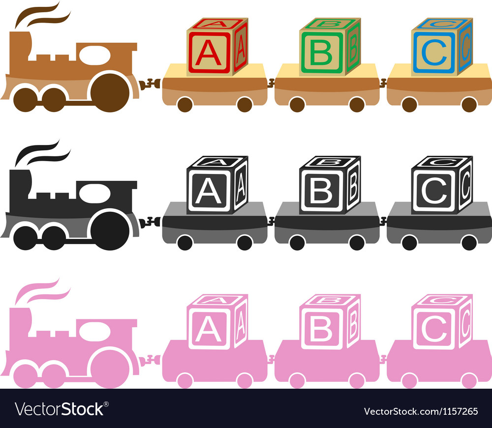 Kids toy train vector | Price: 1 Credit (USD $1)