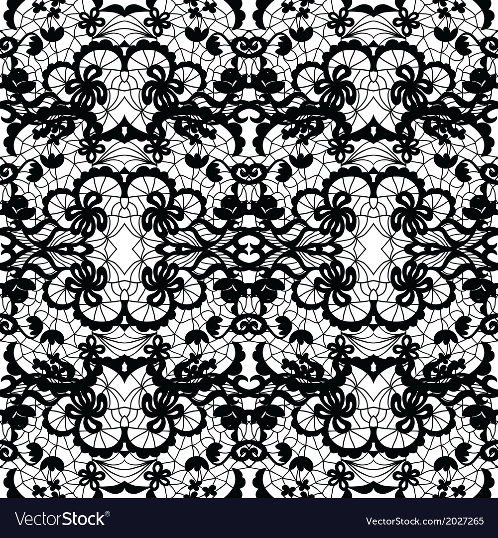 Lace fabric seamless pattern vector | Price: 1 Credit (USD $1)