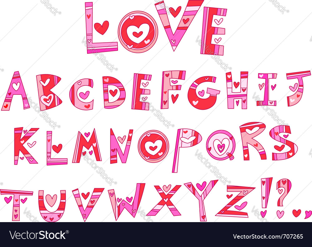 Love alphabet vector   Price: 3 Credit (USD $3)