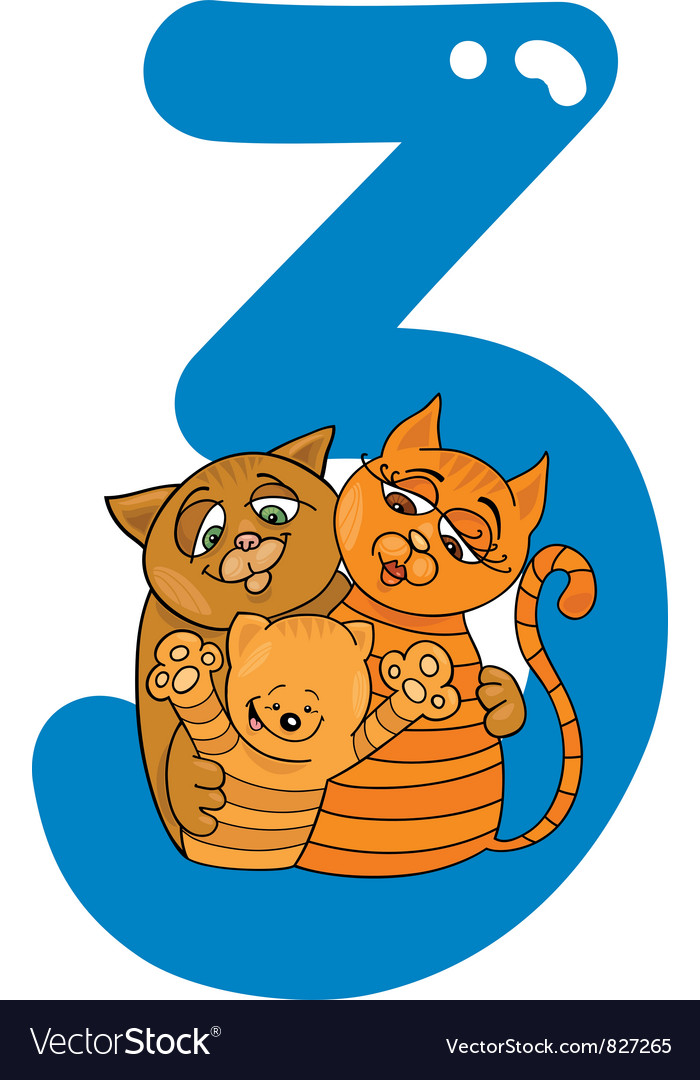 Number three vector | Price: 3 Credit (USD $3)