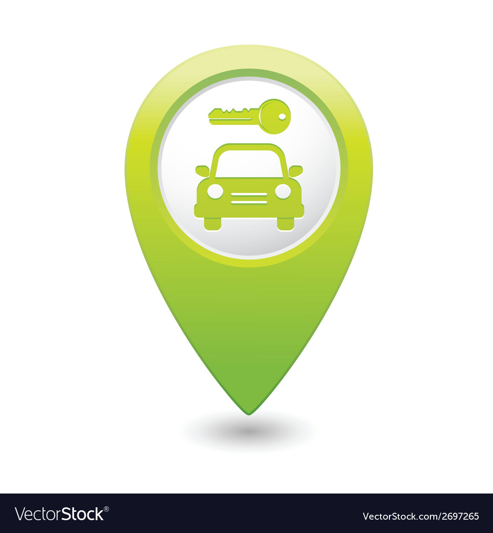 Parking symbol map pointer green vector | Price: 1 Credit (USD $1)