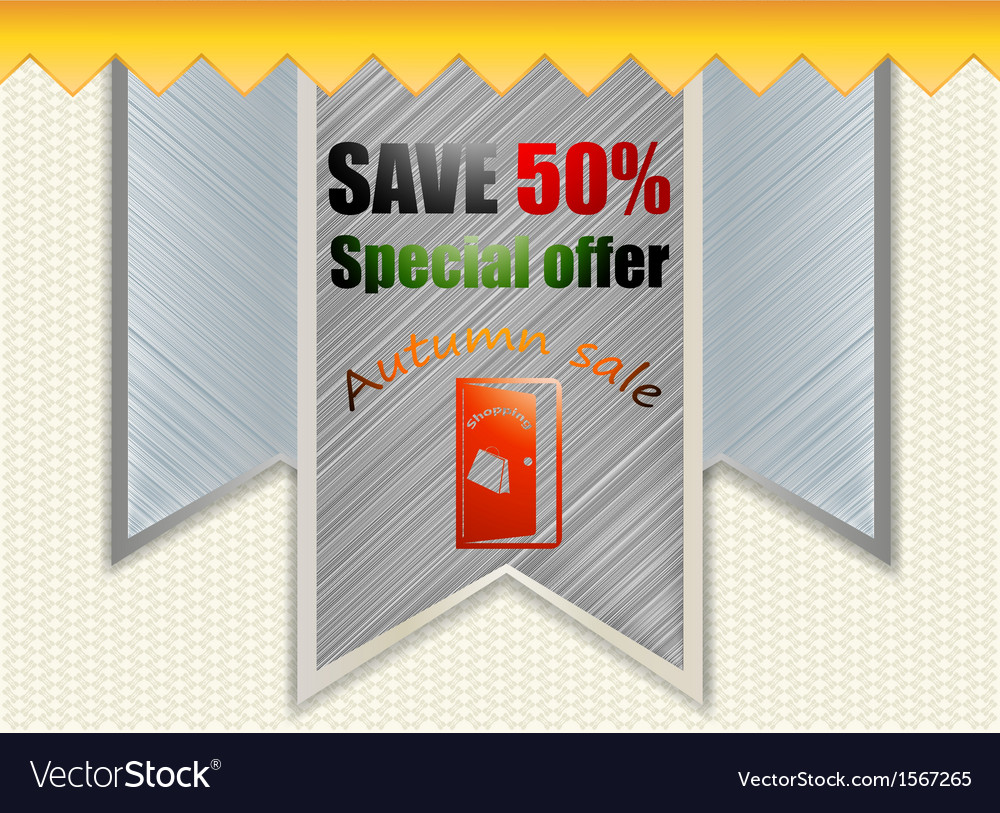 Promotion tag label vector | Price: 1 Credit (USD $1)