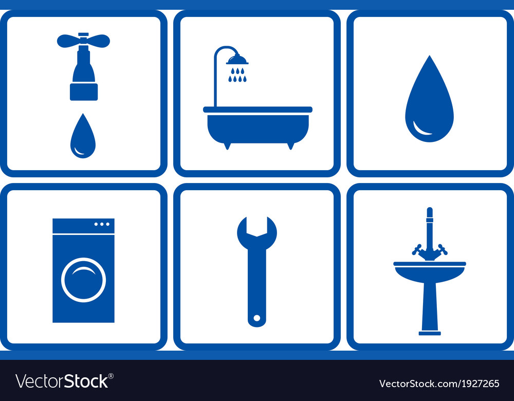 Set of bath objects vector | Price: 1 Credit (USD $1)