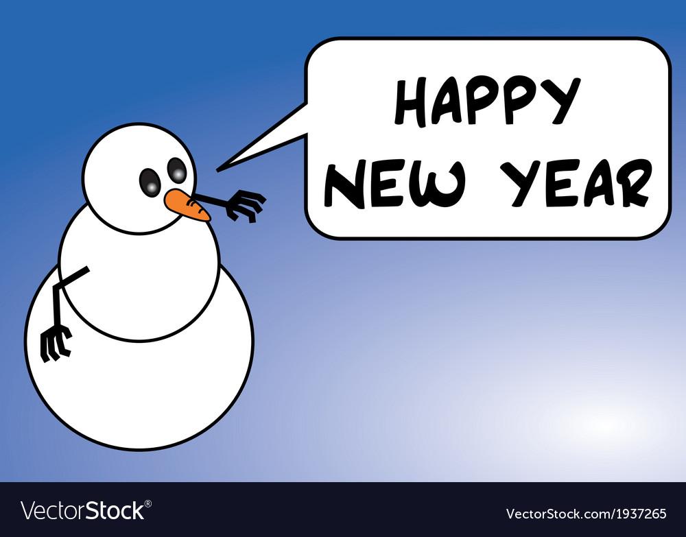 Snowman happy new year vector   Price: 1 Credit (USD $1)