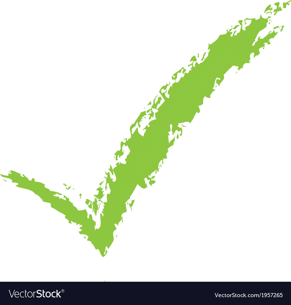 Tick mark brushed vector | Price: 1 Credit (USD $1)
