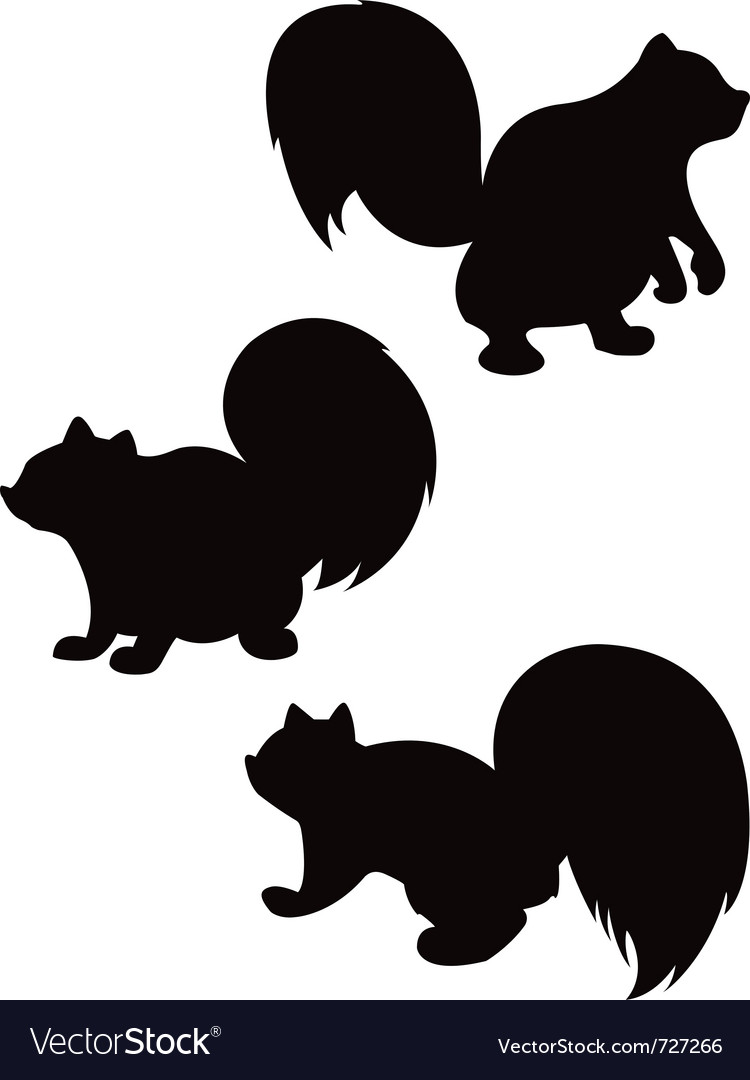 Cartoon squirrel silhouettes vector | Price: 1 Credit (USD $1)