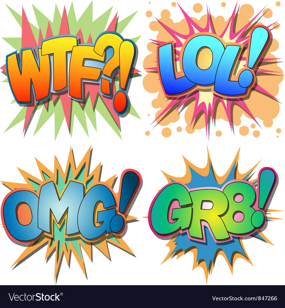 Comic book abbreviations vector | Price: 1 Credit (USD $1)