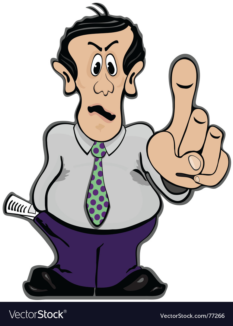 Man holding finger up vector | Price: 1 Credit (USD $1)