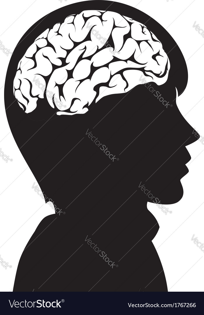 Man with brain vector | Price: 1 Credit (USD $1)