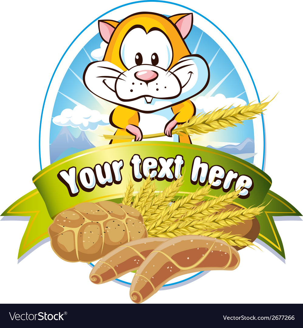 Natural cereal label vector   Price: 1 Credit (USD $1)