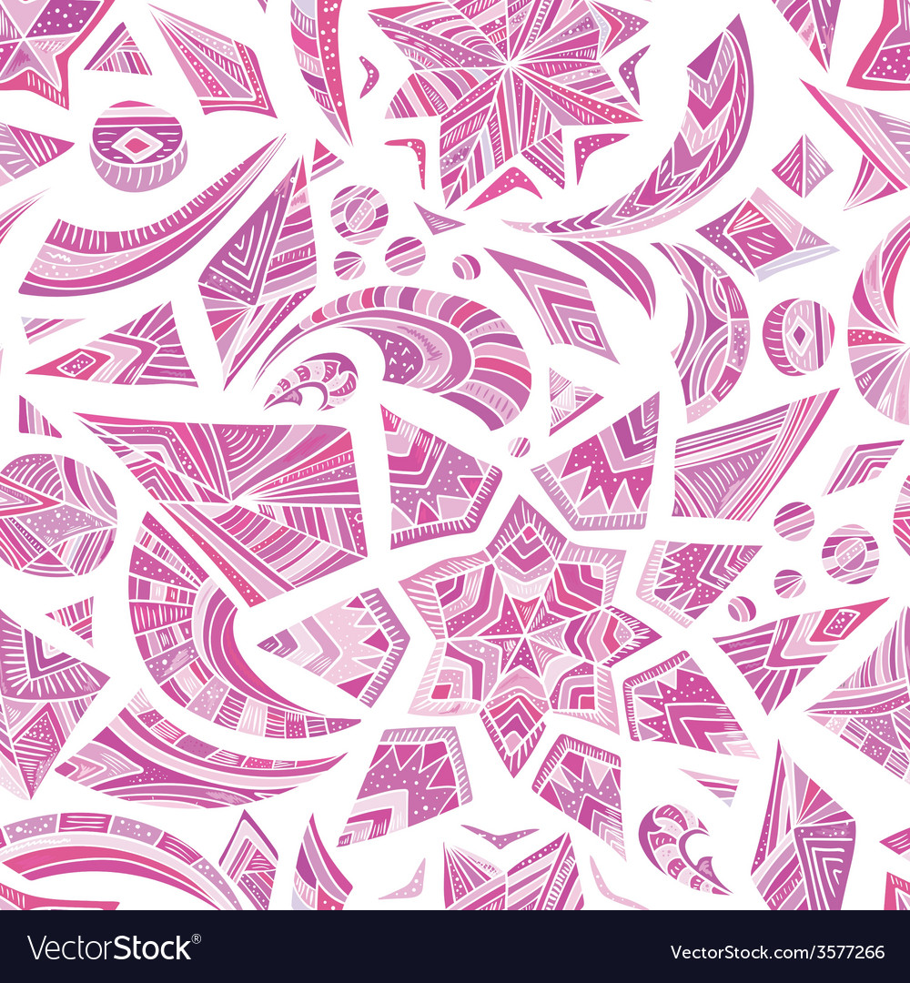 Pink aztec winter pattern vector