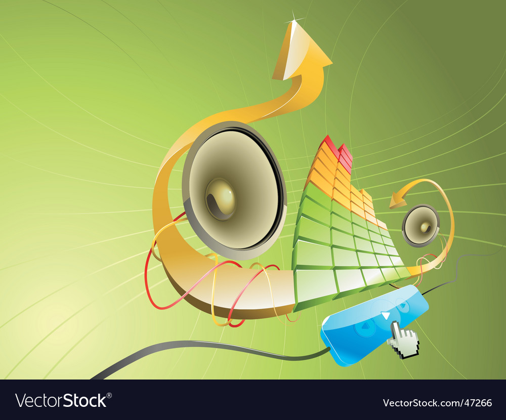 Pseudo 3d illustration of music vector | Price: 1 Credit (USD $1)