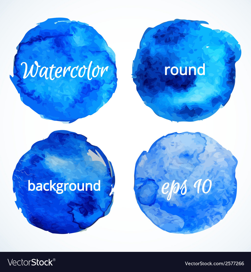Round water color backgrounds vector | Price: 1 Credit (USD $1)