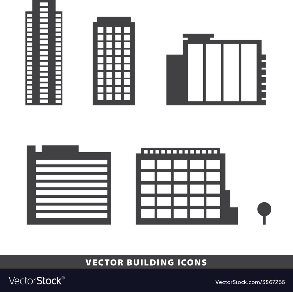 Set of office buildings apartments vector | Price: 1 Credit (USD $1)