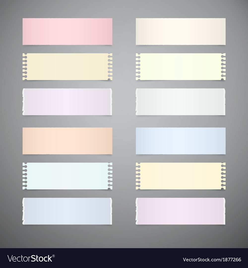 Set of retro paper sheets on grey background vector | Price: 1 Credit (USD $1)