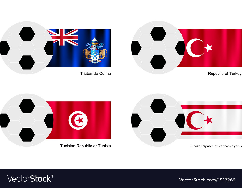 Tristan da cunha turkey tunisia or turkish flag vector | Price: 1 Credit (USD $1)