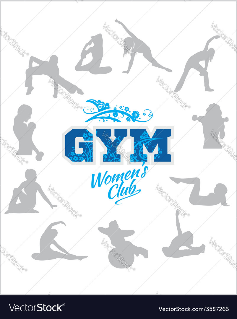 Womens fitness gym - stock vector | Price: 1 Credit (USD $1)
