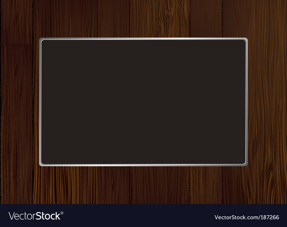 Wood frame vector | Price: 1 Credit (USD $1)